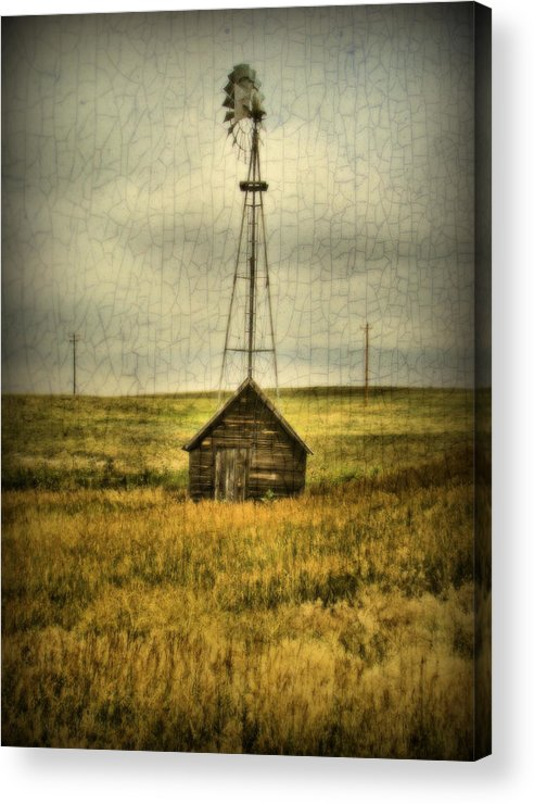 Windmill Acrylic Print featuring the photograph Prairie Pump by Tingy Wende