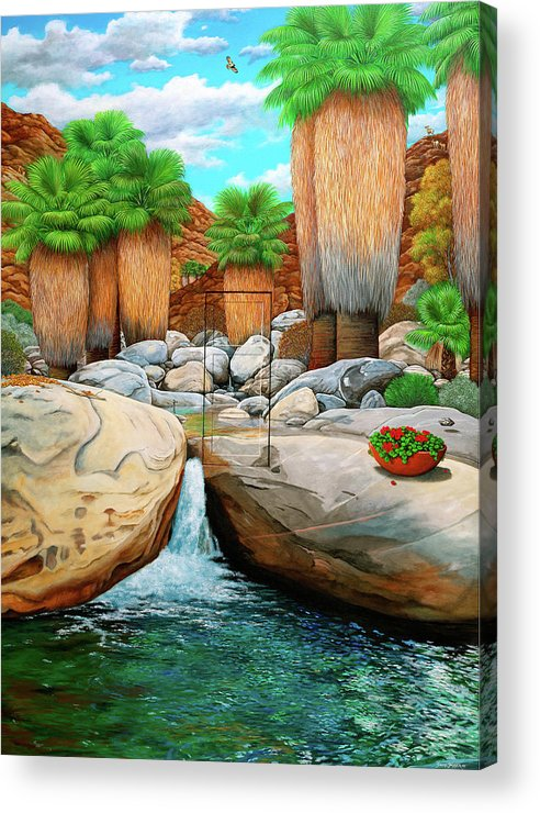 Landscape Acrylic Print featuring the painting Primary Escape Route by Snake Jagger