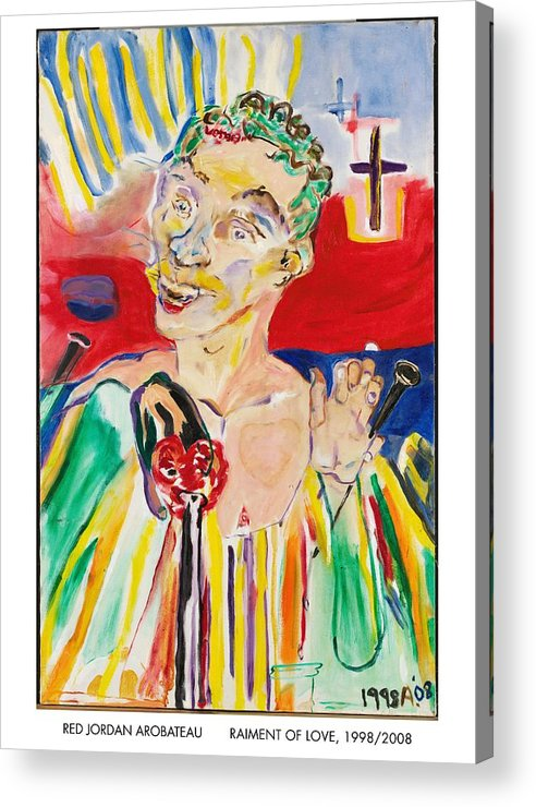 Sin Acrylic Print featuring the painting Raiment Of Love by Red Jordan Arobateau