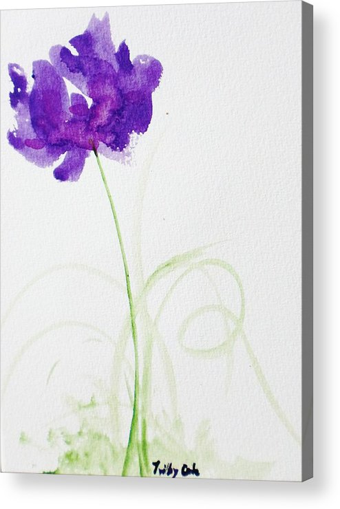 Flower Acrylic Print featuring the painting Random by Trilby Cole