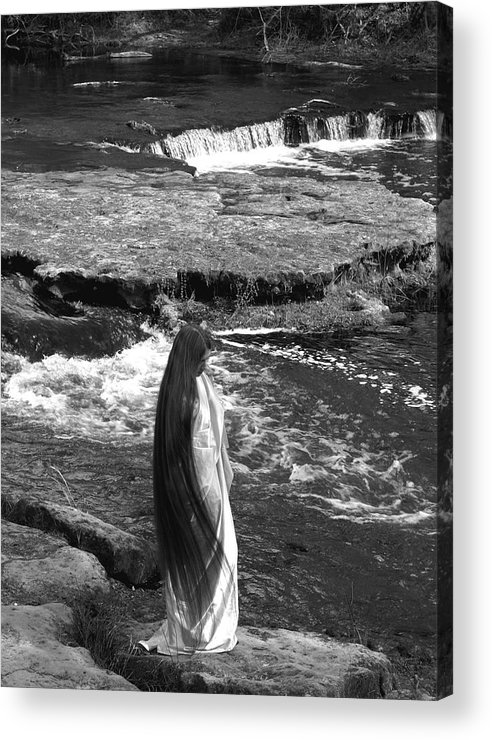 Woman Acrylic Print featuring the photograph Return To The Falls by Debbie May