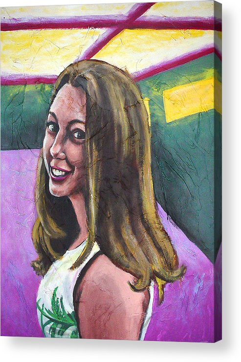 Lady Acrylic Print featuring the painting Ringold by Sarah Crumpler