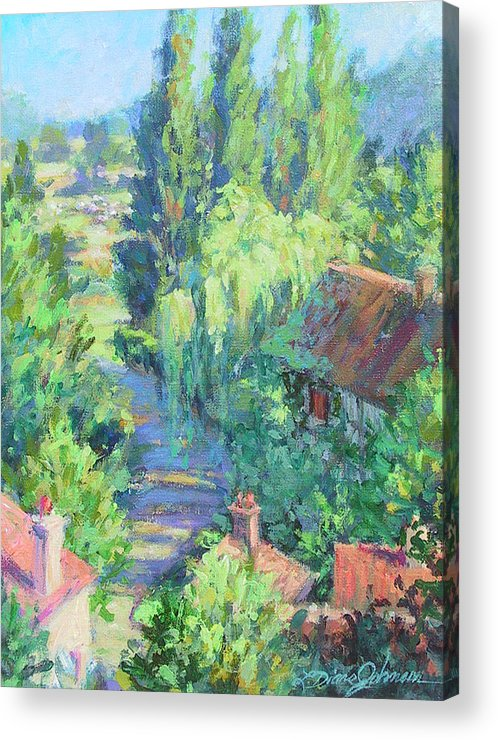 France Acrylic Print featuring the painting Road To Giverny by L Diane Johnson