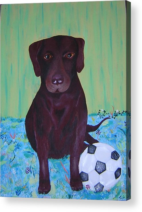 Dog Acrylic Print featuring the painting Rocky by Valerie Josi