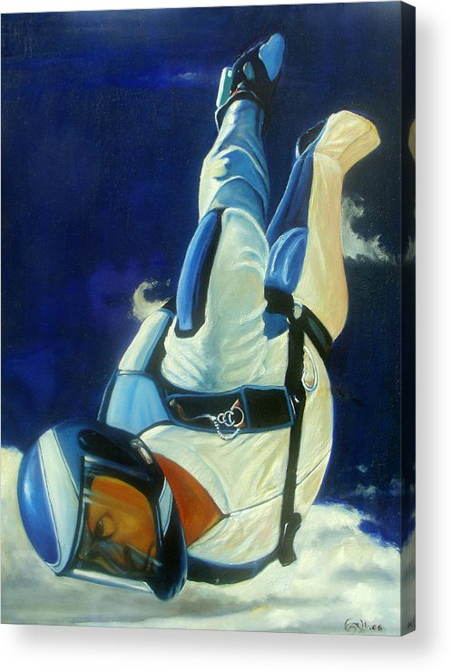 Figure Acrylic Print featuring the painting Rogue by T Ezell