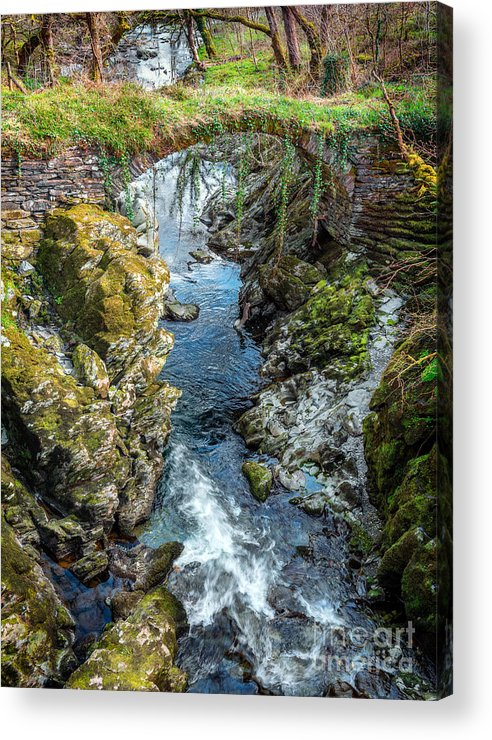 Bridge Acrylic Print featuring the photograph Roman Bridge by Adrian Evans