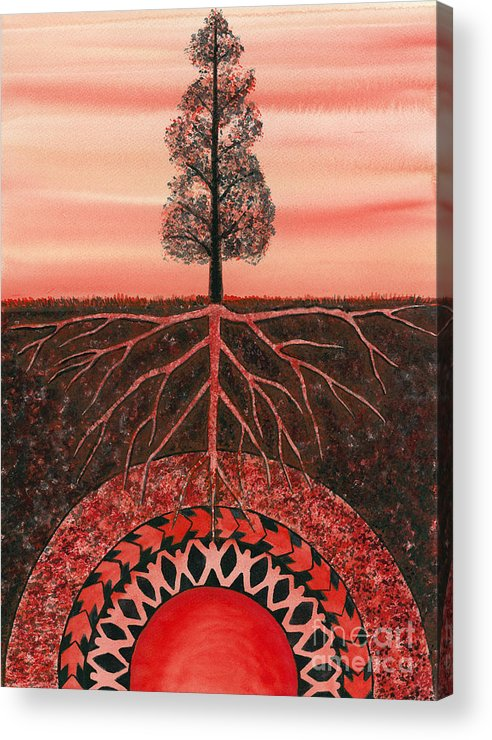Chakra Acrylic Print featuring the painting Root Chakra by Catherine G McElroy