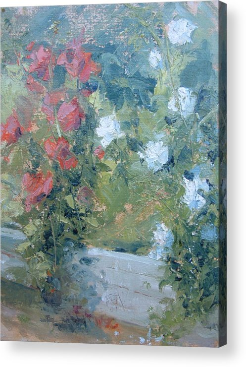 Roses In California Garden Acrylic Print featuring the painting Rose Garden by Bryan Alexander