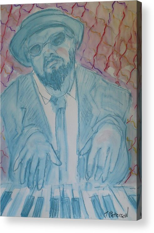 Thelonious Monk Acrylic Print featuring the painting Round Midnight by Todd Peterson