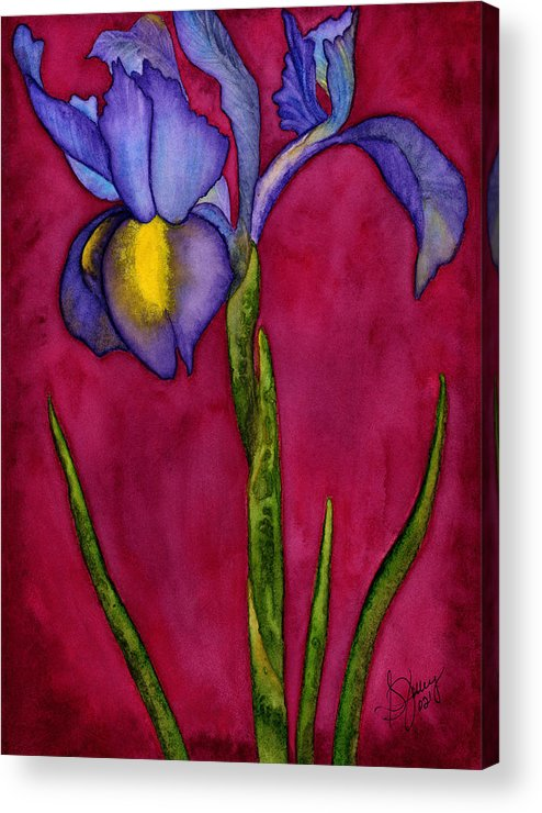 Iris Acrylic Print featuring the painting Royal Dutch by Stephanie Jolley