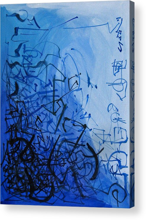 Abstract Acrylic Print featuring the painting Scroll by David McKee