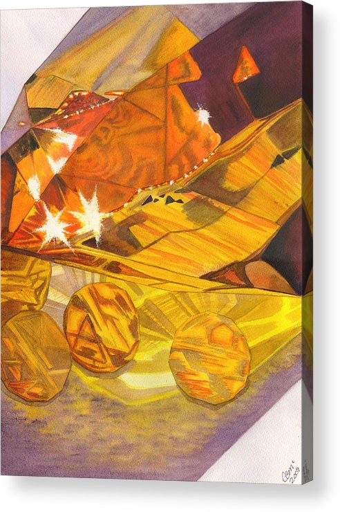 Prism Acrylic Print featuring the painting Shades Of Yellow by Catherine G McElroy