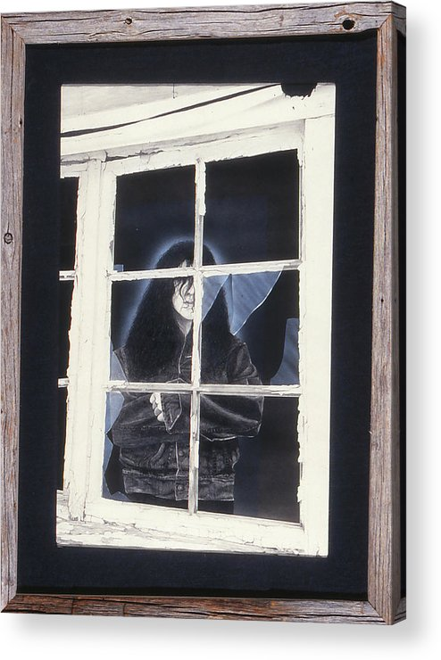 Window Acrylic Print featuring the mixed media Shattered Dreams by Brett Cremeens