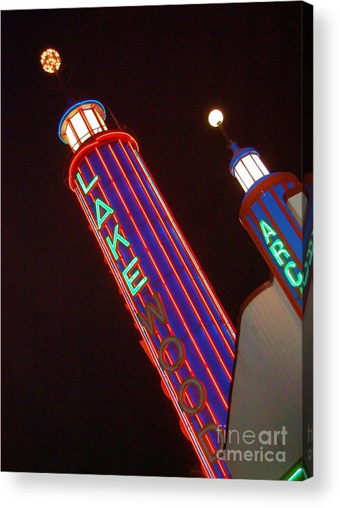 Neon Acrylic Print featuring the photograph Sky Lights by Debbi Granruth