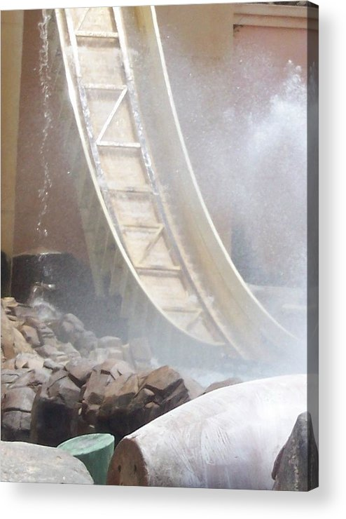 Slide Acrylic Print featuring the photograph Slide Splash by Pharris Art