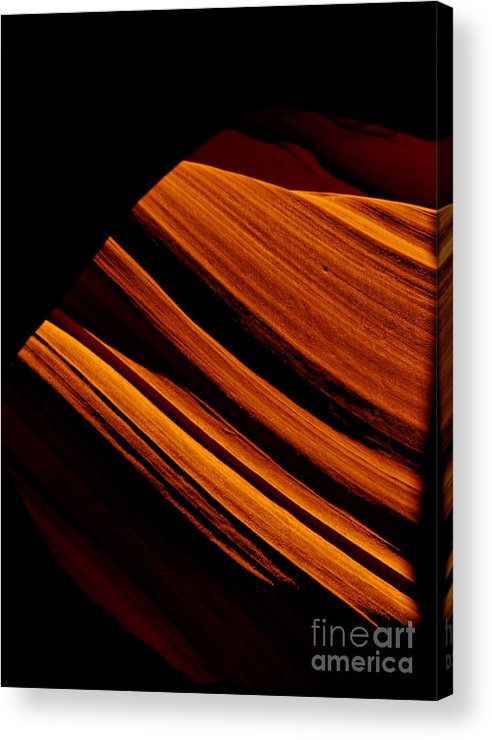 Slot Canyon Acrylic Print featuring the photograph Slot Canyon Striations by Scott Sawyer