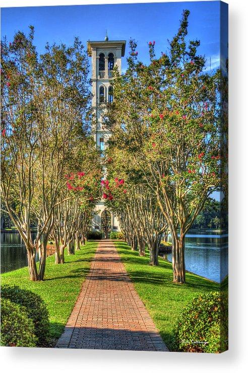 Reid Callaway Furman University Acrylic Print featuring the photograph Sounds Of Victory The Bell Tower Furman University Greenville South Carolina Art by Reid Callaway
