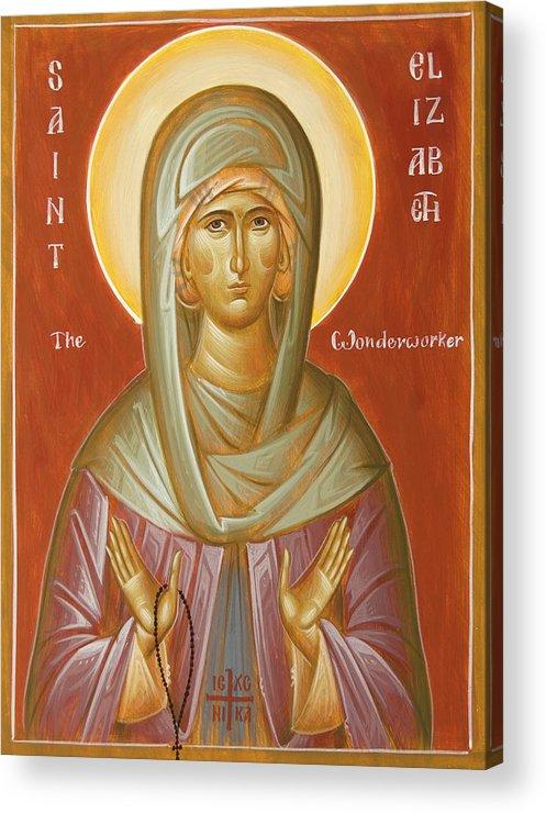 St Elizabeth The Wonderworker Acrylic Print featuring the painting St Elizabeth The Wonderworker by Julia Bridget Hayes