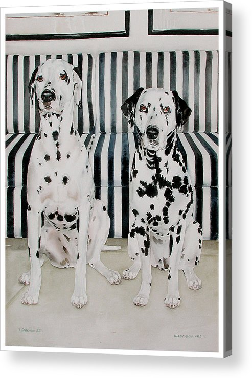 Portrait Acrylic Print featuring the painting Stanley And Stelle by Eileen Hale