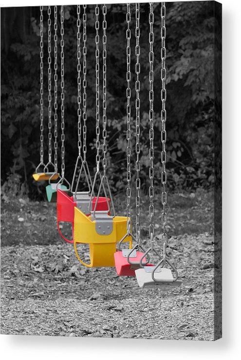 Richard Reeve Acrylic Print featuring the photograph Still Swings by Richard Reeve