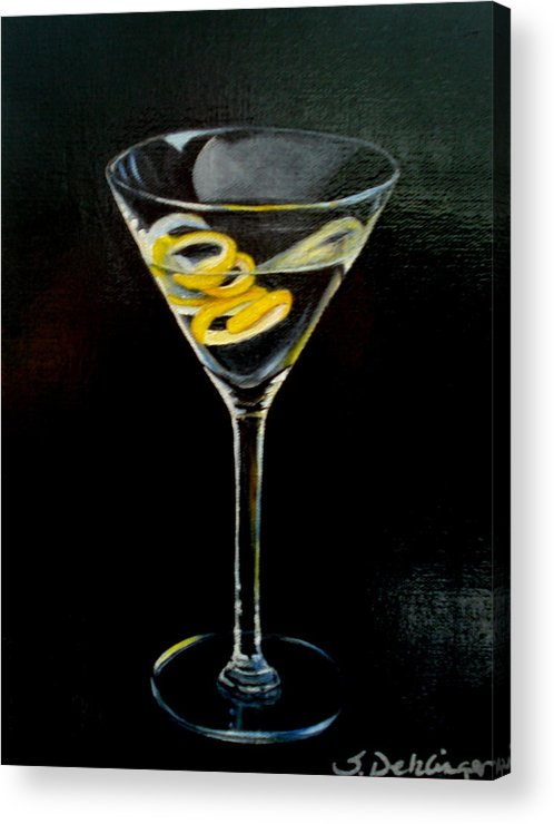 Martini Acrylic Print featuring the painting Straight Up And Twisted by Susan Dehlinger