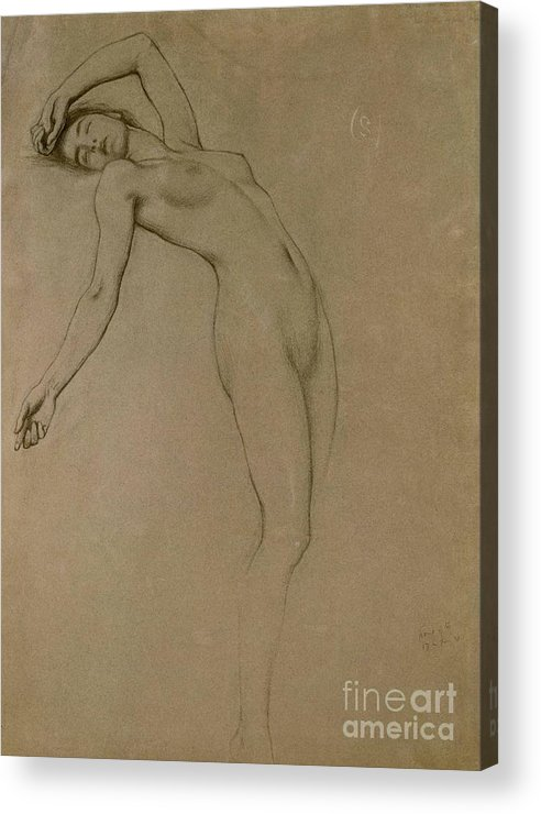 Study Acrylic Print featuring the drawing Study For Clyties Of The Mist by Herbert James Draper