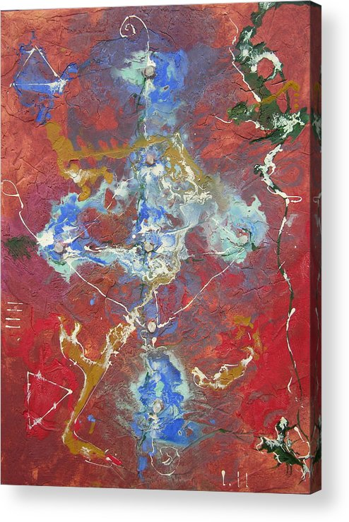 Modern Acrylic Print featuring the painting Synchronicity by Frederic Payet