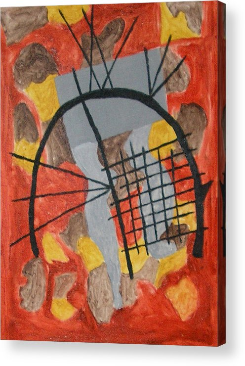 Contemporary Acrylic Print featuring the painting The Broken Circle by Harris Gulko