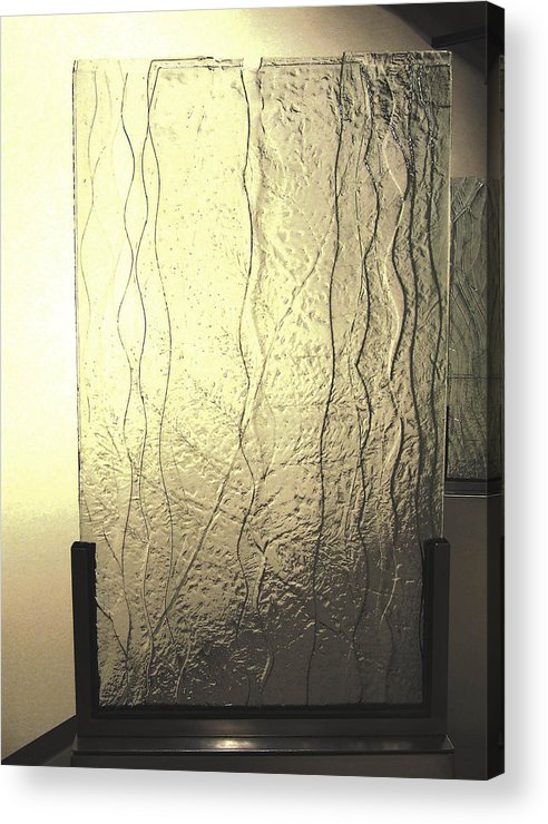 Glass Acrylic Print featuring the sculpture 'the Iris River' by Sarah king