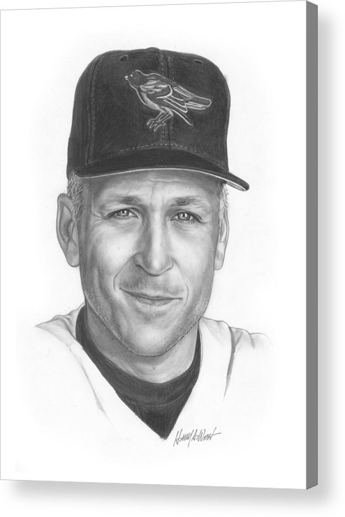 Cal Ripken Acrylic Print featuring the drawing The Iron Man II by Harry West
