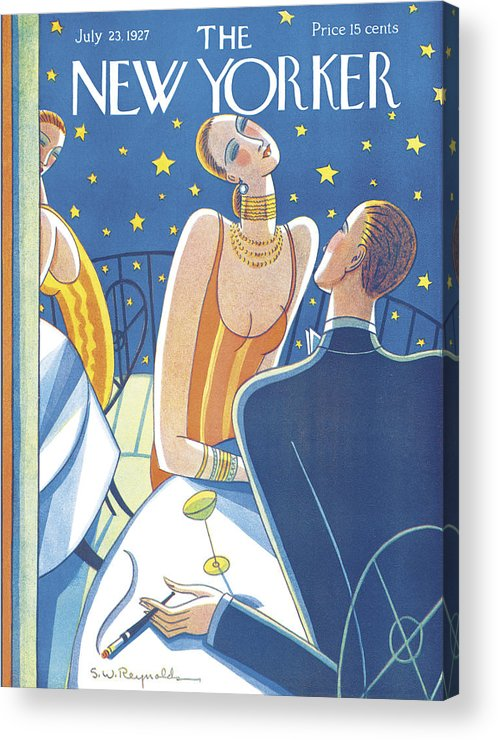 S.w. Acrylic Print featuring the photograph The New Yorker Cover - July 23rd, 1927 by Stanley W Reynolds