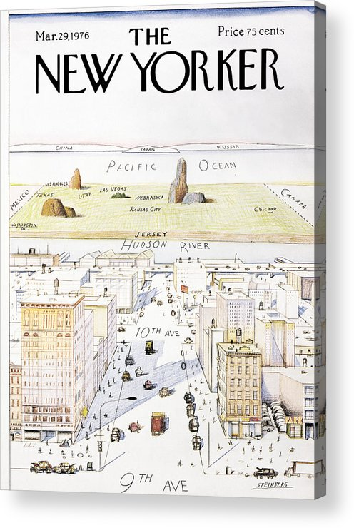 Saul Acrylic Print featuring the photograph View From 9th Avenue by Saul Steinberg