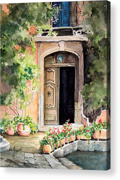 Door Acrylic Print featuring the painting The Open Door by Sam Sidders