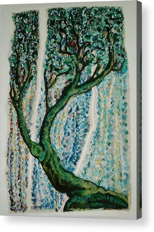 Tree Acrylic Print featuring the painting The Tree Energy by Helene Champaloux-Saraswati