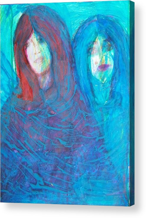 Abstract Acrylic Print featuring the painting The Twins by Judith Redman