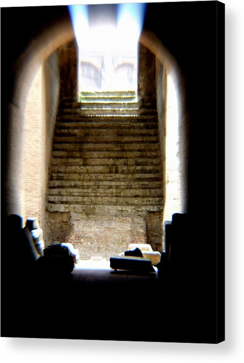 Colliseum Acrylic Print featuring the photograph The Way by Chuck Shafer