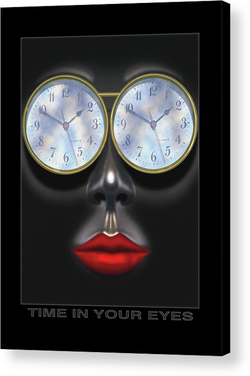 Portrait Acrylic Print featuring the photograph Time In Your Eyes by Mike McGlothlen