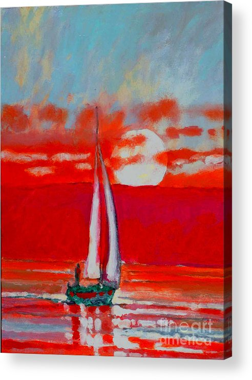 Sailing Acrylic Print featuring the painting Toward Sunset I by Kip Decker