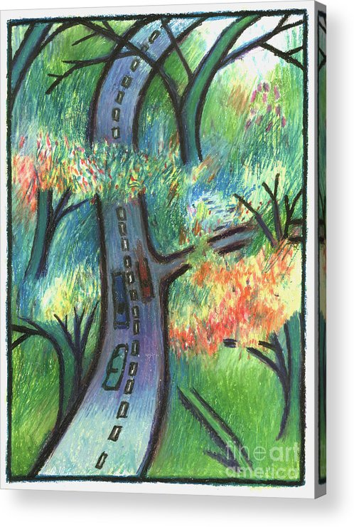 Road Acrylic Print featuring the digital art Trunk Road by Andy Mercer