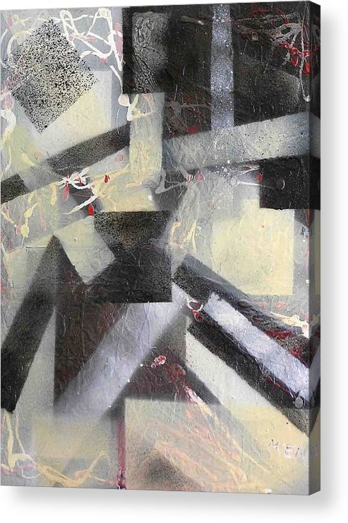 Abstract Acrylic Print featuring the painting undercover N1 by Evguenia Men