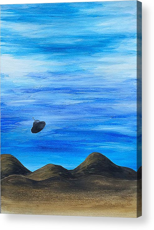 Ufo Acrylic Print featuring the painting Unidentified by Noah Babcock