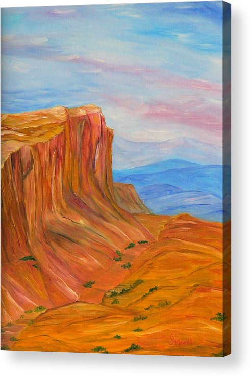 Southwest Acrylic Print featuring the painting Valley Of Fire by Cary Singewald