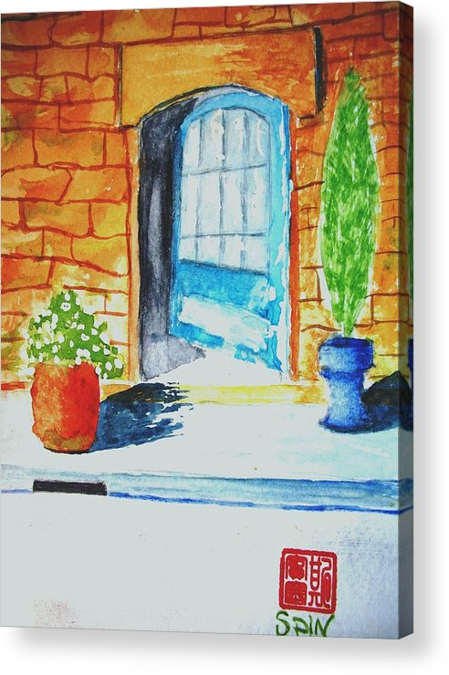 Door Acrylic Print featuring the painting Welcome by Spencer Joyner