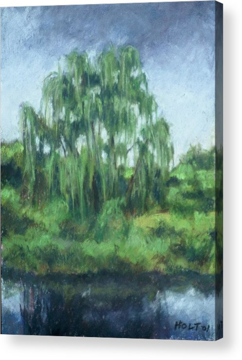 Landscape Acrylic Print featuring the painting Willow Tree by Dolores Holt