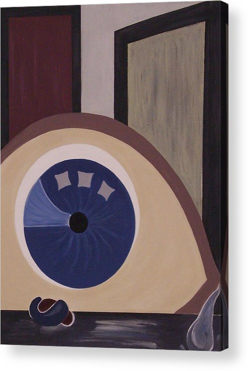 Modern Acrylic Print featuring the painting Windows To The Soul by Sandy Bostelman