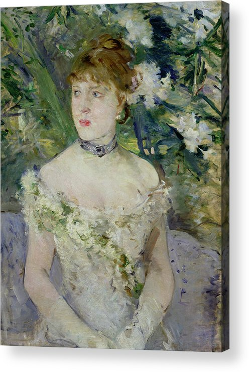 Young Acrylic Print featuring the painting Young Girl In A Ball Gown by Berthe Morisot