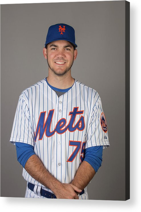 Media Day Acrylic Print featuring the photograph 2015 New York Mets Photo Day by C.j. Walker