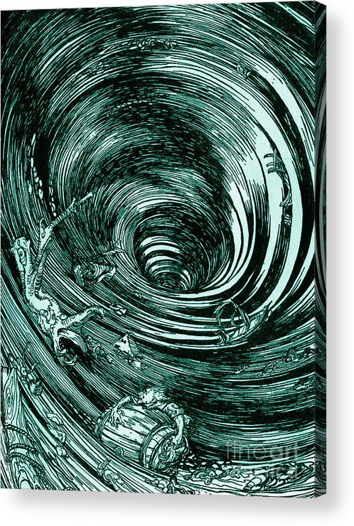 Image result for edgar allan poe famous illustrator descent maelstrom