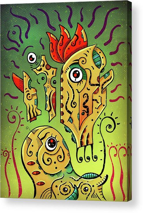 Totoro Acrylic Print featuring the digital art Ancient Spirit by Sotuland Art