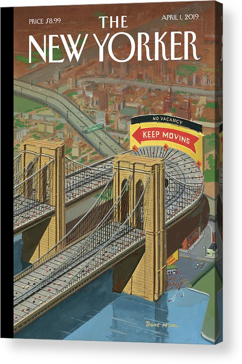 Brooklyn Or Bust Acrylic Print featuring the painting Brooklyn Or Bust by Bruce McCall